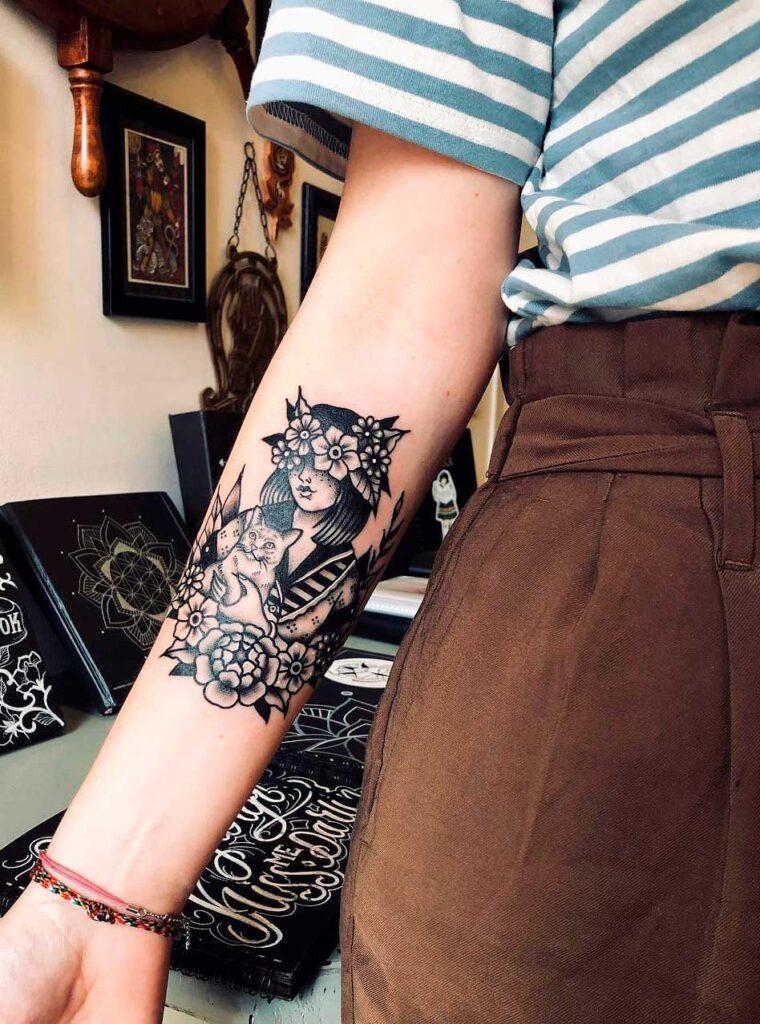 simple tattoo ideas upper arm