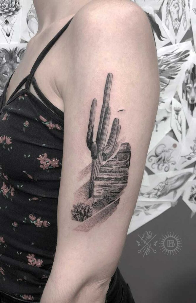 upper arm tattoos on females
