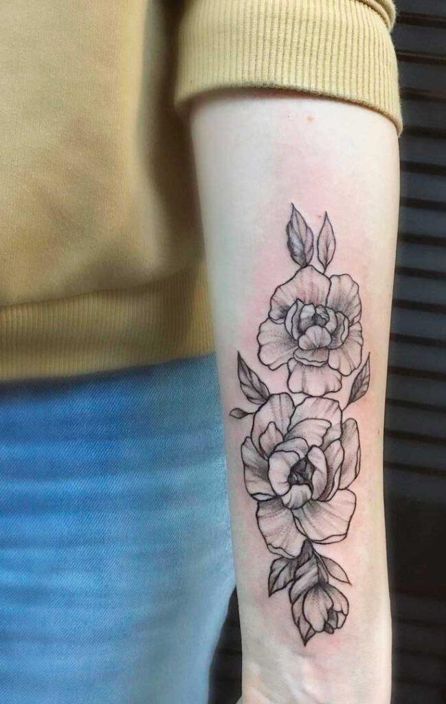 best roses women's arm tattoo flowers