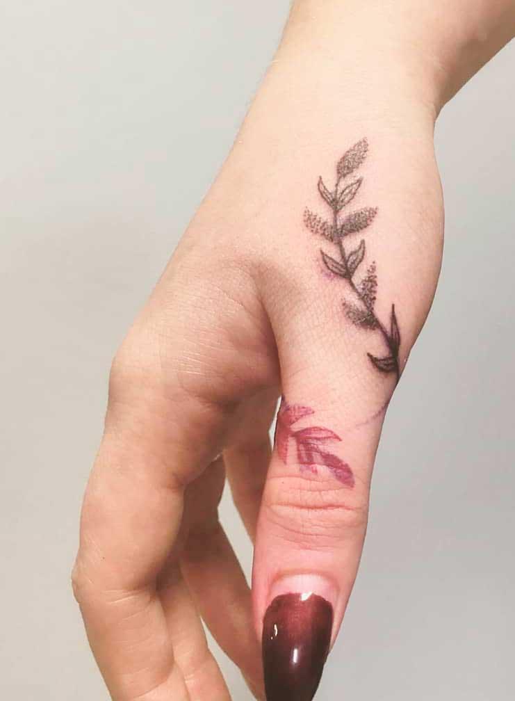 Girl finger tattoos ideas design