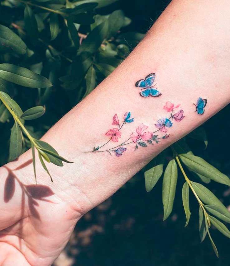 flower pattern tattoo