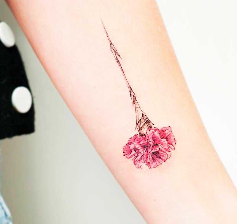 tropical flower tattoo designs