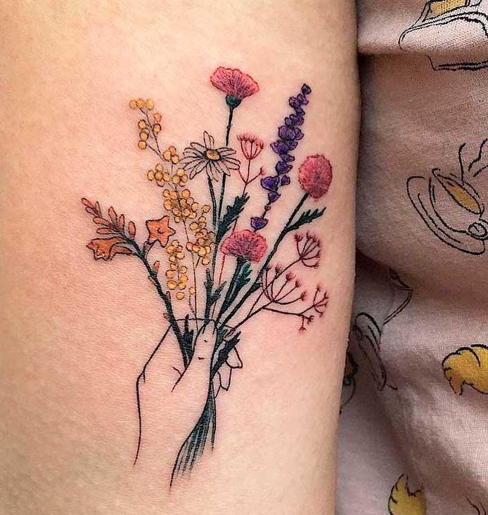 women's floral tattoo designs
