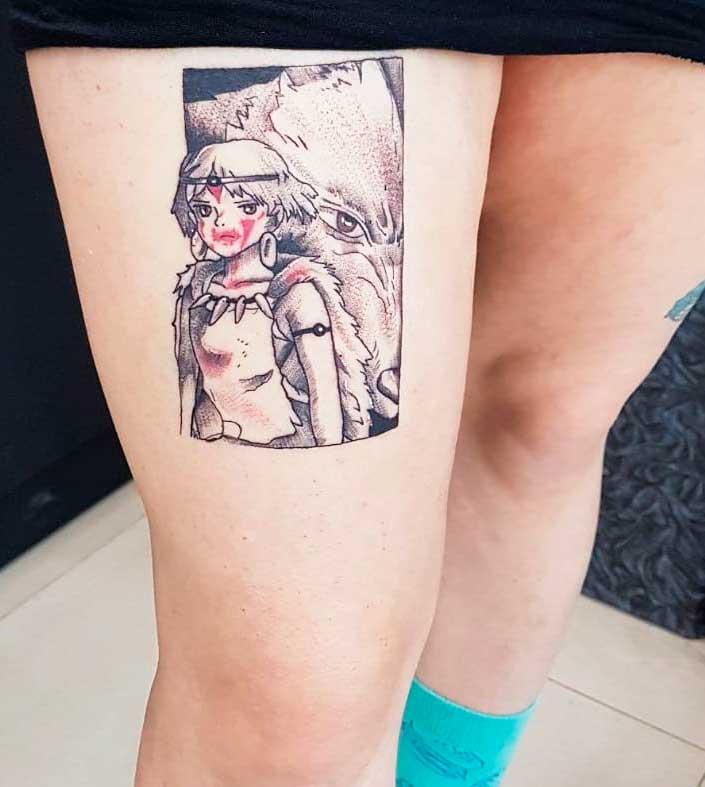 ladies leg tattoos
