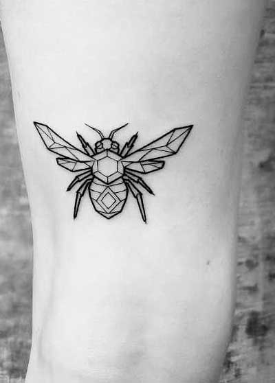 insects ankle foot tattoos