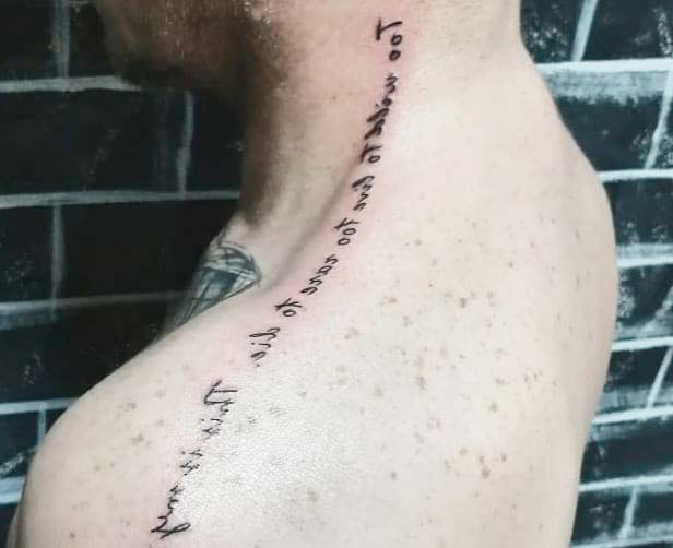 letters small tattoo designs for neck back male