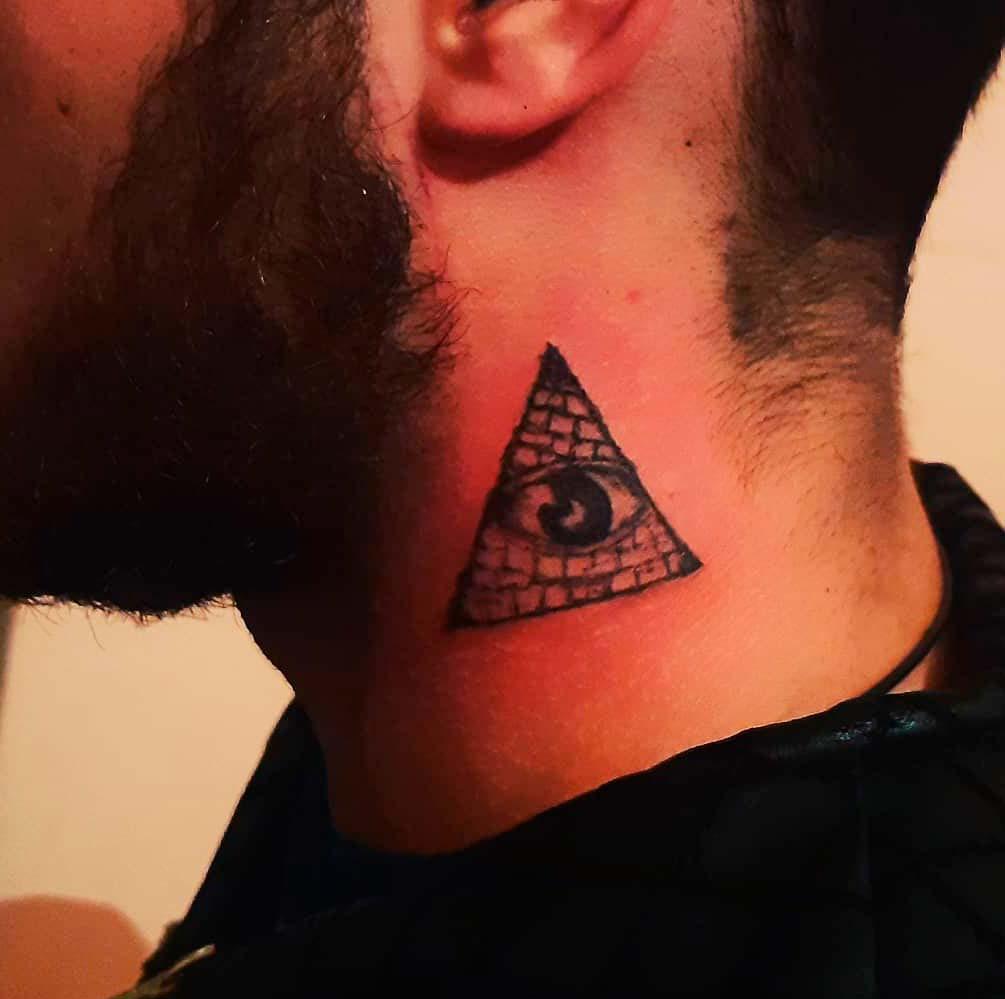 eye body art ink neck ideas