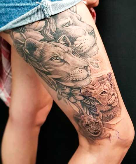 simple tattoo for legs ladies