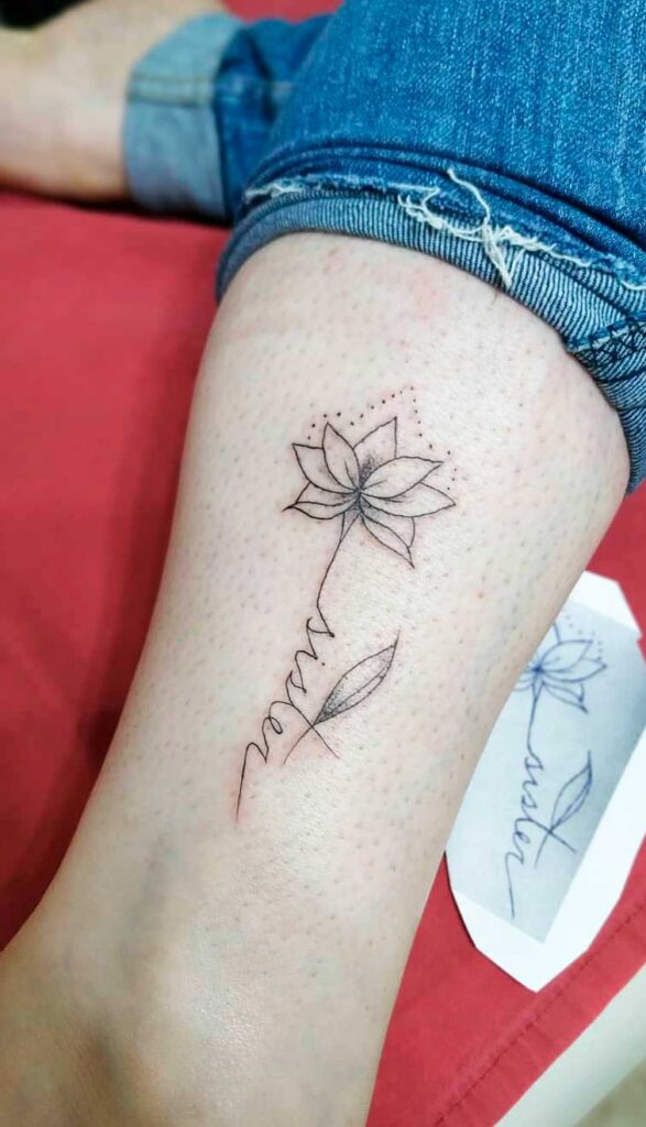 flower ink art images on female body