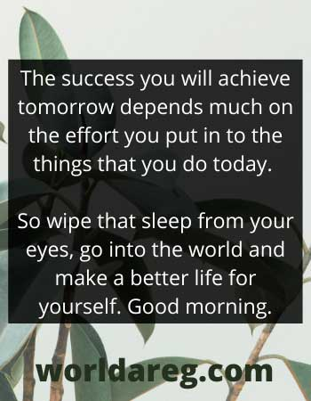 positive morning thoughts  success you will achieve tomorrow