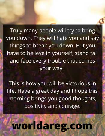 believe in yourself latest good morning message