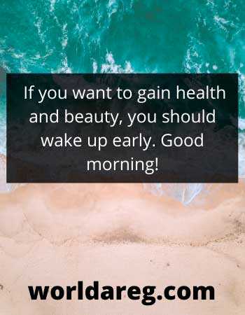 morning words health and beauty wishes
