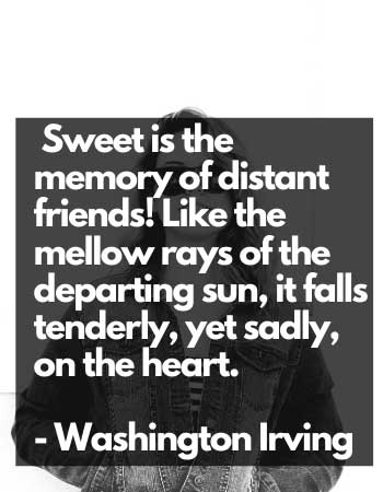 the memory of distant friends sad and depressed quotes