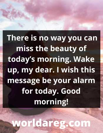 beauty of today's morning romantic good morning messages