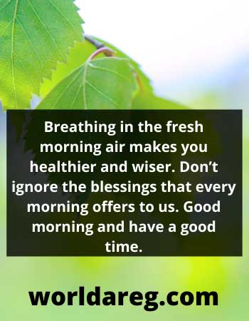 great morning quotes air makes you healthier and wiser