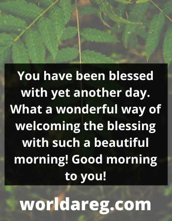 blessing with such a beautiful morning word idea