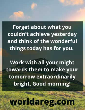 motivational quotes think of the wonderful things today