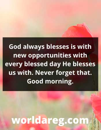 new opportunities with every blessed day word