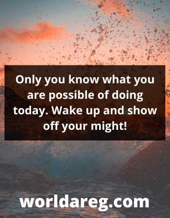 Wake up saturday morning greetings