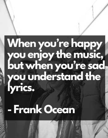 frank ocean sad saying