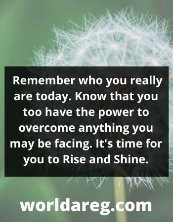 Remember who you really are today inspiration mornings word