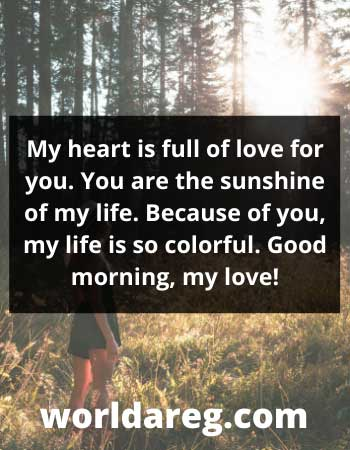 the greatest good morning text heart is full of love