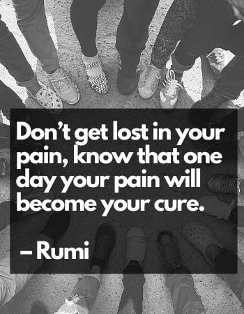 short depression quotes Rumi ideas