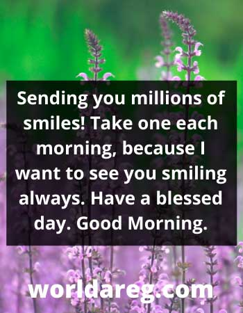 morning wishes for love smiling always