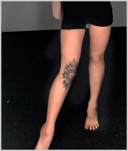 mandala little female tattoos on leg inspiration design