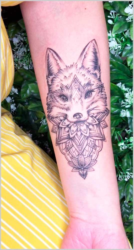 Foxy  Popular Small Tattoo on arm for women
