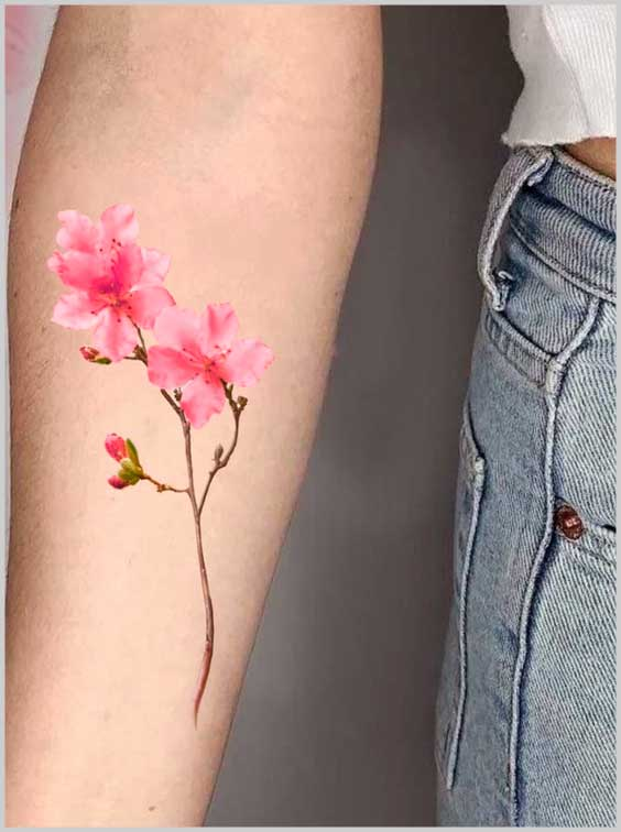 tiny flower Simple Tattoo Designs For Women on arm
