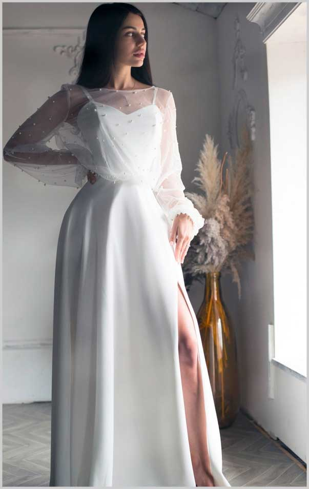 Beautiful portrait woman photography in wedding dress