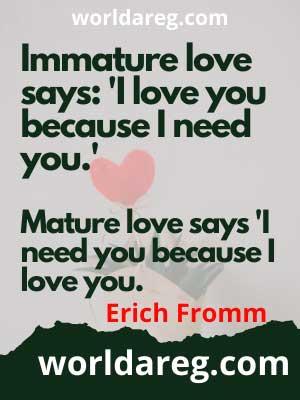 romantic  'I love you because I need you